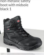 New TUF 160-655 S3 Black Safety Boots Size 8 EU42