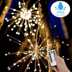 50/150 LED Battery Firework Starburst String Fairy Lights Outdoor Hanging Garden