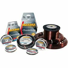 Maxima Chameleon Bulk Fishing Line 600 Metre Spools Brown Fishing Line