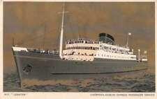 Liverpool Dublin Express MV Leinster Antique Postcard J68822