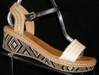 DV by Dolce Vita espadrille ankle buckle strap sandal platform wedges 4M