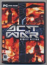 ACT OF WAR Direct Action - PC game + DVD demo come nuovo