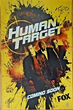 SDCC EXCLUSIVE WB HUMAN TARGET CAST SIGNED x6 POSTER SAN DIEGO COMIC-CON