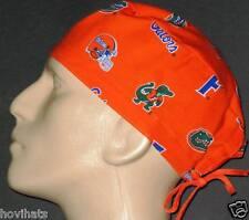UNIVERSITY OF FLORIDA ORANGE LOGO SCRUB HAT  / FREE CUSTOM SIZING!