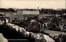 Trollhättan Schweden Sverige ~1940/50 Oscarsbron Bron Brücke Hojum Totale Felsen