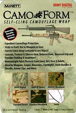 MCNETT CAMO~FORM PROTECTIVE SELF-CLING CAMOUFLAGE WRAP FOR SCOPES GUNS NIP