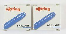 12 x Rotring Art Pen Artpen BRILLIANT Ink cartridges refills BLUE