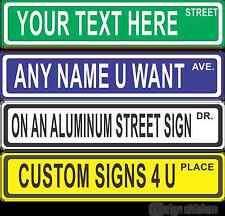 Custom Street Sign - Make Your Own Street Sign