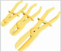 3 Piece Flexible Hose Clamp Kit Brake Fuel Water Line Plier Tool Set Kit N008072