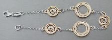 Massives Armband Silber 925 Gold Silberarmband vergoldet runde Glieder Armkette