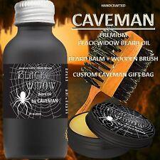 Hand Crafted Caveman® Beard Oil GIFT Set KIT Beard Oil + Balm FREE Beard Brush