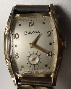 Vintage Bulova L7 Mens 11AC Wristwatch Running 10k RGP Bezel