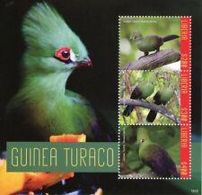 Liberia 2019 MNH Guinea Turaco 3v M/S Turacos Birds Stamps