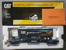 MTH O Gauge Caterpillar (200533) FlatCar w/ 48' Trailer (Terrain) 20-98460 ~ TS