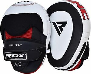RDX Leather Focus Pads Martial Arts MMA Boxing Mitts Punch Pad Training Gloves