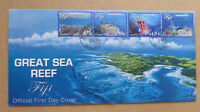 2017 FIJI GREAT SEA REEF 4 STAMPS FIRST DAY COVER FDC
