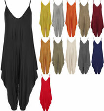Plus Size Strappy, Spaghetti Strap Jumpsuits & Playsuits without Pattern for Women