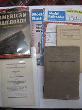 Lot 6 RR Railroad Baltimore & Ohio Catalogs 1927 Model Railroader Magazines 1934