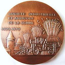 SOCIETE INDUSTRIELLE DE LA SOMME 1920 / 1970  .BRONZE 6.7  CM X EPAIS 0.5 CM