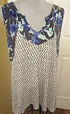 Women's By Design Tunic Top  size XL  multi-colors side dip hem NWT