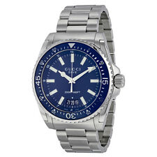 Gucci Dive Blue Dial Stainless Steel Mens Watch YA136203