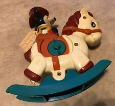 Vintage Illco Disney Mickey Mouse on Rocking Horse Wind-up Music London Bridge