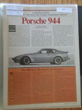 Porsche Articles & Road Tests Group #15 1982 & 1983 Models Choice of 1 of 10