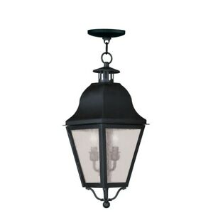 Livex Lighting Amwell Outdoor Chain Hang in Black - 2546-04