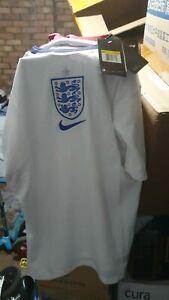 England Home WHITE Euro National Team SHIRT Men's SIZE Large