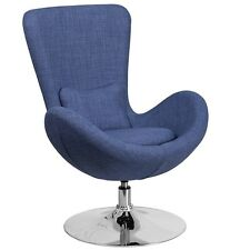 Flash Furniture Blue Fabric Egg Series Reception-Lounge-Side Chair New