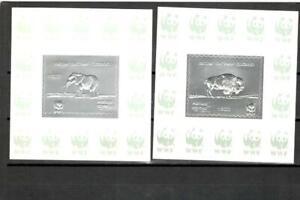 Batum Silver WWF 2 Sheets  MNH
