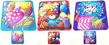 Assorted Design Happy Birthday Mats & Coasters Party Tableware Kids Dinner Decor