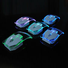 2.4GHz Wireless Mouse LED Glowing Computer Mice Backlight For PC Transparent UK