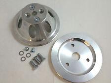 SB Chevy SBC 1 Belt Groove Short Water Pump Aluminum Pulley Kit W/ Bolts 283-350