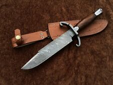 Custom Handmade Damascus Steel Bart Moore Bowie Knife, Jim Bowie, Replica D01