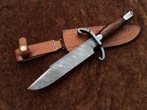 Custom Handmade Damascus Steel Bart Moore Bowie Knife, Jim Bowie, Replica D01