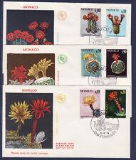 MONACO   enveloppe 1er jour  plante du jardin exotique    1974