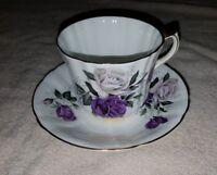 Royal Prince Fine Bone China England Floral Tea Cup & Saucer