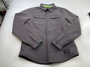 Pearl Izumi Men's Rove Thermal Shirt Gray Button Down Size Large