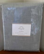 Pottery Barn Emery Linen Poletop Drape Curtain ~ 50 x 84 ~ Blue Dawn