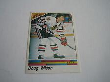 1990/91 Panini Hockey Doug Wilson Sticker #189***Chicago Blackhawks***