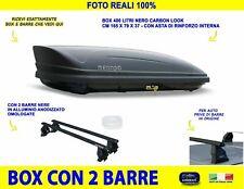 Baule Box Tetto Auto con Barre portatutto per PEUGEOT 208 2012>2015 5 PORTE kit