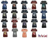 New NFL Womens Shoulder Stripe T-Shirt