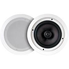 "NEW (2) 6.5"" In ceiling Bluetooth Speaker System.Built in Amplifier.9"" frame."