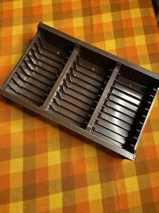 Vintage SH 1957 Brown Wall Mounting Interlocking Cassette Tape Storage Holder