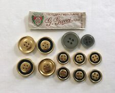 Lot of 12 Buttons From Gucci Blazer & Label 2 Sizes and 2 MOP Replacements