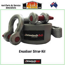 DRIVETECH 4X4 EQUALISER STRAP 8T KIT BOW SHACKLES 4.7T 4WD RECOVERY PACK - DT-ES