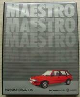 AUSTIN / MG MAESTRO Car Press Information Media Pack Photos March 1993