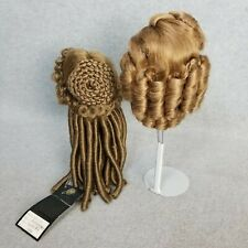 2 synthetic doll wigs wig Lot size 8 & 10-11 for modern vintage or antique Doll