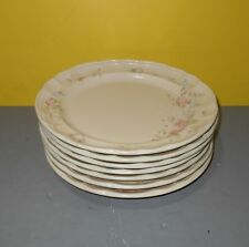 "Pfaltzgraff Tea Rose Fluted Edge Dinner Plates 10"" USA Set of 7"
